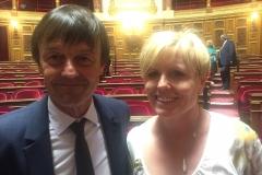 Nicolas Hulot et Patricia Schilinger