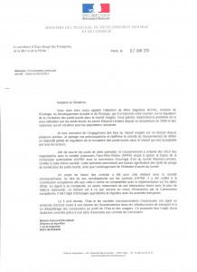 Courrier Ministère de l'écologie 1 001