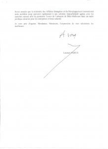 Courrier Ministère des affaires étrangères 2 001