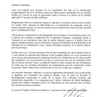 Courrier JM Ayrault
